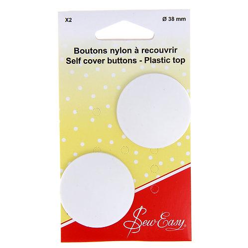 Boutons nylon à recouvrir 38mm