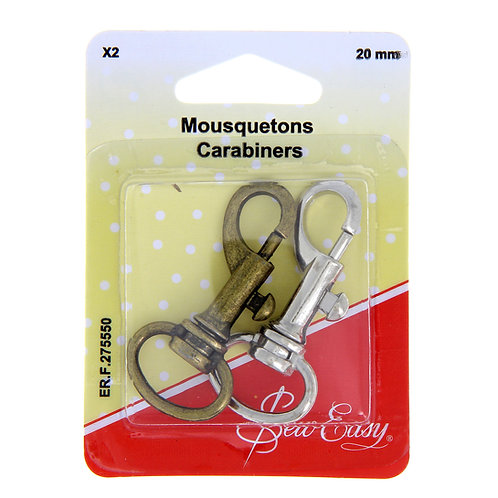 Moustquetons 20mm x2