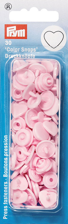 Boutons pression color snaps coeurs