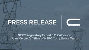 NERC Regulatory Expert J.C. Culberson Joins Certrec's Office of NERC Compliance Team