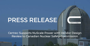 Certrec Supports NuScale Power with Vendor Design Review to Canadian Nuclear Safety Commission