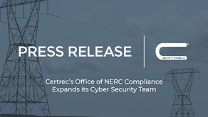 Certrec's Office of NERC Compliance Expands its Cyber Security Team