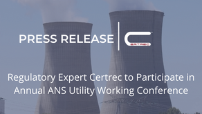 Regulatory Expert, Certrec, to Participate in Annual ANS Utility Working Conference