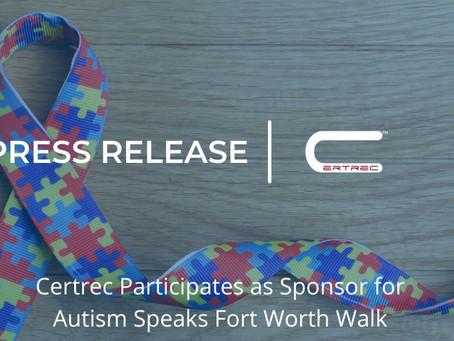 Certrec Participates as Sponsor for Autism Speaks Fort Worth Walk