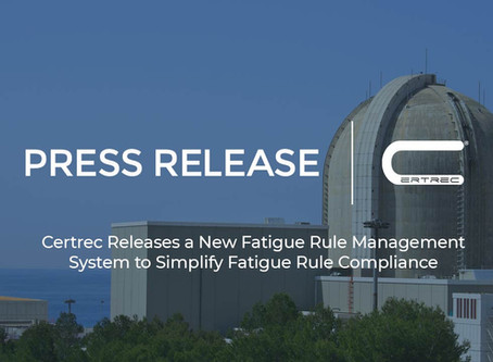Certrec Releases a New Fatigue Rule Management System to Simplify Fatigue Rule Compliance