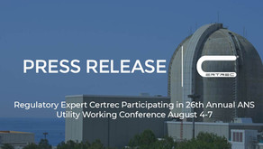 Regulatory Expert Certrec Participating in 26th Annual ANS Utility Working Conference August 4-7