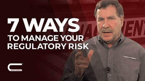 7 ways to manage your regulatory risk th