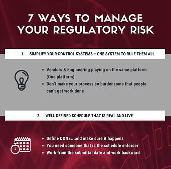 7 Ways to Manage Your Regulatory Risk In