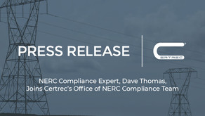 NERC Compliance Expert, Dave Thomas, Joins Certrec's Office of NERC Compliance Team