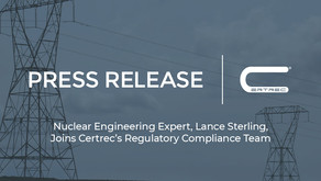 Nuclear Engineering Expert, Lance Sterling, Joins Certrec's Regulatory Compliance Team