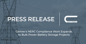 Certrec's NERC Compliance Work Expands to Bulk Power Battery Storage Projects