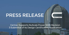 Certrec Supports NuScale Power With Revision 3 Submittal of Its Design Certification Application