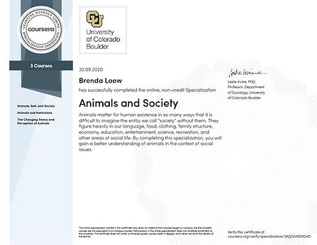 Coursera Animals and Society Specializat