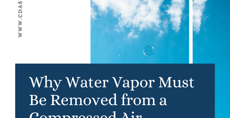 Why Water Vapor Must Be Removed from a Compressed Air System