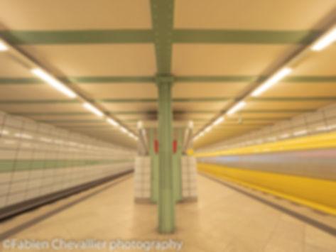 photo du metro de berlin U-bahn straussberger platz
