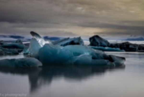 photo d'iceberg et de glaier en islande