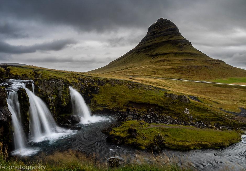 photographie en islande de watefall, du paysage kirkjufell