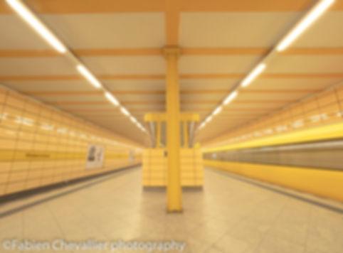 jolie photo du metro de berlin U-bahn weberwiese