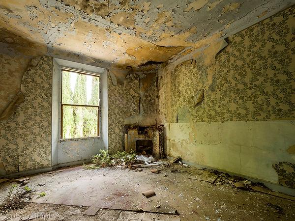 photo d'une cheminée abandonnée urbex