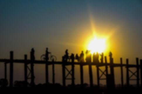 photo du pont en tek en birmanie
