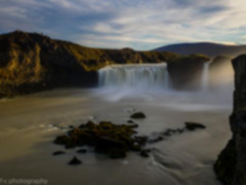 photo de cascade en islande à godafoss
