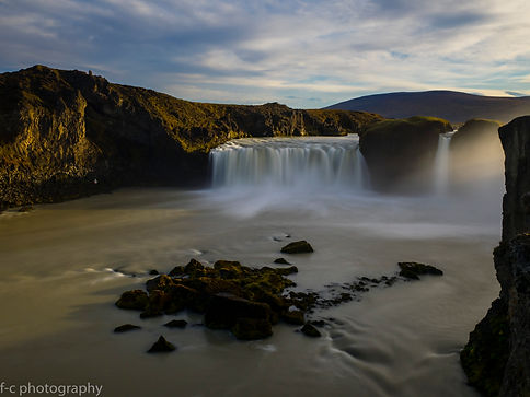 photo de cascade en islande à godafoss