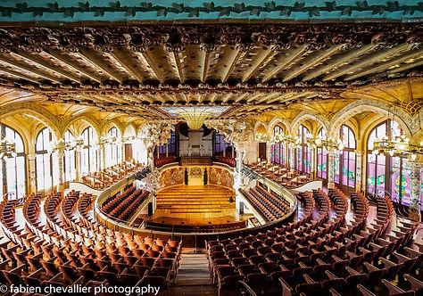 photographie de  barcelone du Palau de la musica catalana