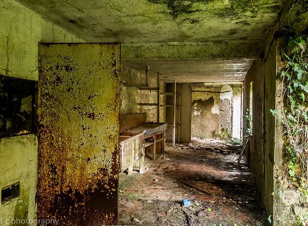 photo urbex d'un lieu abandonnée nature