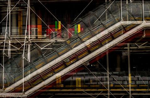 photographie du centre beaubourg à Paris