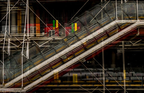 photographie du centre beaubourg à Paris