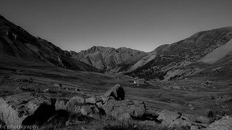 photo alpes noir et blanc