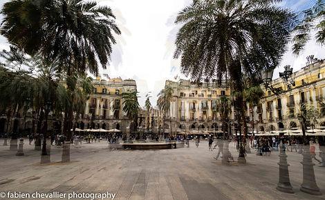 photo de la plaçe du roi à Barcelone