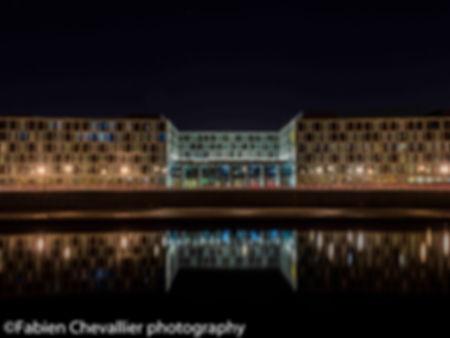 photod'architecture de berlin la nuit