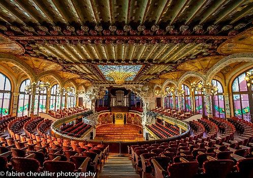 vente de photographie dart en édition limitée du Palau de la musica catalana à Barcelone