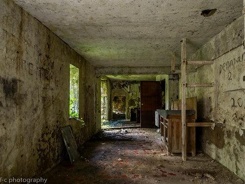 vente de photographie dart, tirage édition limitée d'une photo urbex d'une maison abandonée