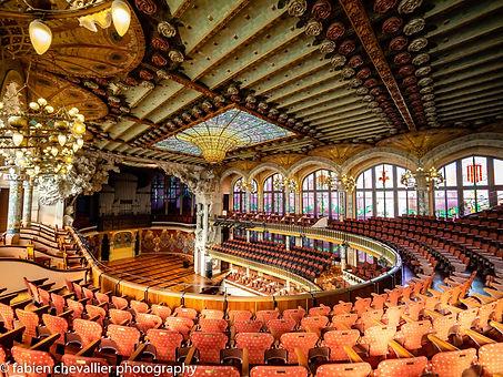 Photographie  de barcelone palais de la musique catalan