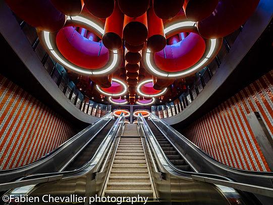 photo du metro de bruxelles architecture