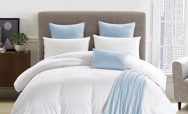 white baffle box stitch Eiderdown/white goose down comforter
