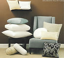 decorative pillow inserts on chairs