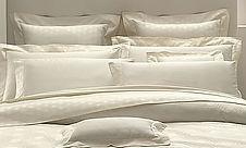 Italian jacquard cotton 300 threads in ivory