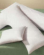 Column and L-shape white goose downn body pillows