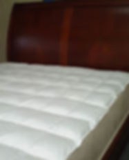 sew thru box stitch white goose down mattress topper