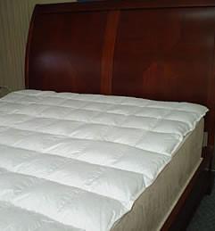 square sew thru stitch goose down mattress topper