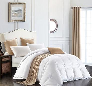 Snowgoose  down comforter beige throw