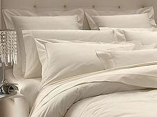Italian percale duvet cover sets in white, sky, ivory, sahara