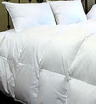 white goose down baffle box comforter