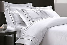 Italian cotton 300 threads duvet cover bordered in brown