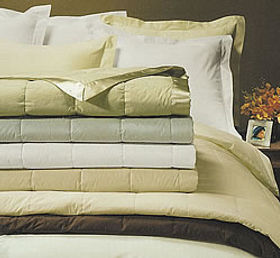 white down sew thru down blankets white and ivory only