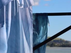 Going bigger - fabric cyanotypes