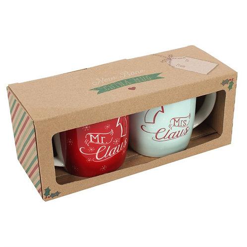 Mr & Mrs Claus Mug Set